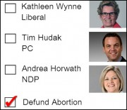 Defunding Abortion - more popular than any political party in Ontario?