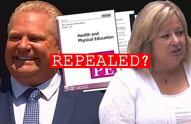 Is Ontario's sex-ed program repealed or not?